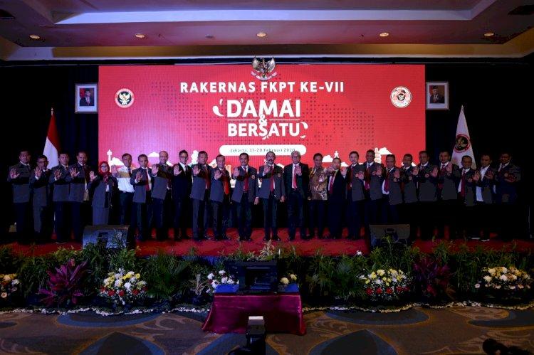 Resmikan Rakernas Ke-7 FKPT, Kepala BNPT Harapkan 32 Ketua FKPT Sebar Benih Perdamaian di Wilayah