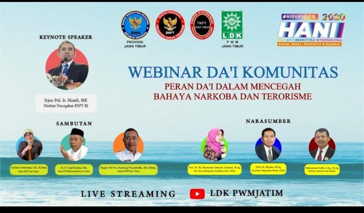 LDK Muhammadiyah Jatim Gelar Webinar dengan BNPT dan BNN, Dorong Peran Aktif Dai Cegah Terorisme